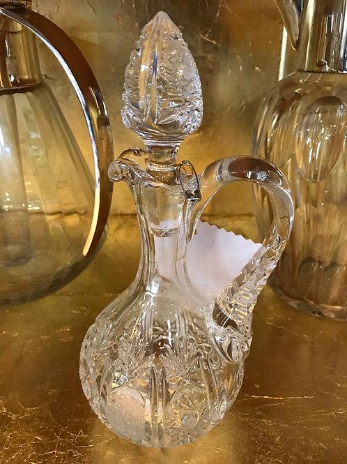 Wunderschöne Likör-Karaffe aus Bleikristall mit Sternschliff
