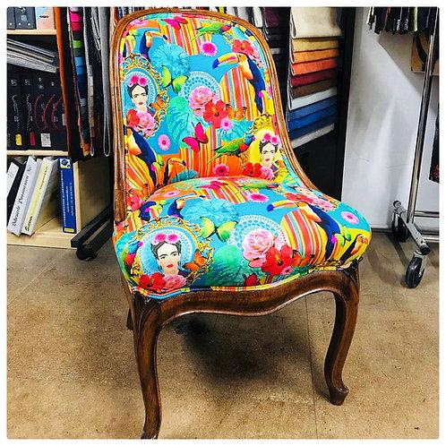Antiker Stuhl - Re-Design von EinzigARTig -FRIDA KAHLO