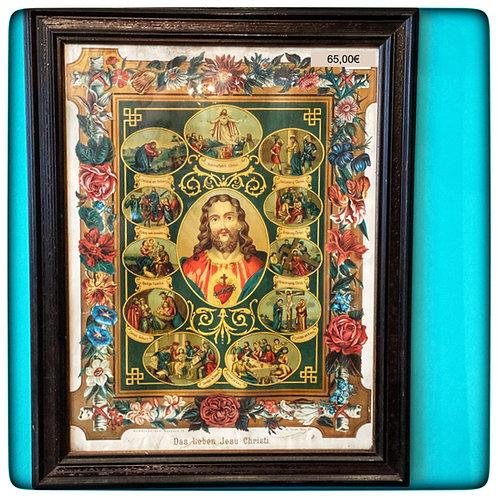 Kunstdruck - das Leben Jesu Christi um 1900