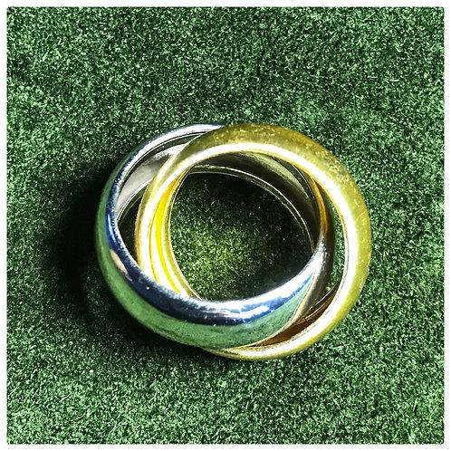 doppelter Designer-Ring, aus Silber