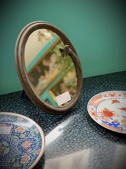 Aufstellspiegel - Oval - mit Skulpturelement - Vintage