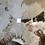Thumbnail: Stilmöbel - Beistelltisch mit Mamorplatte