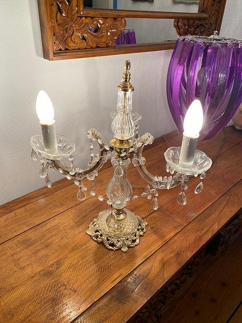 Tischlampe Kronleuchter, golden