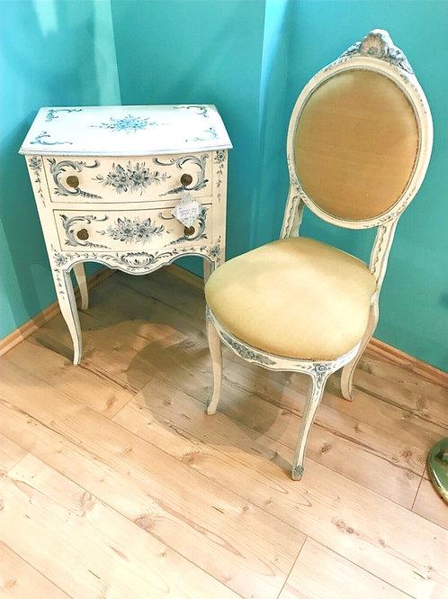 Kommode und Stuhl im Shabby Chic, handbemalt