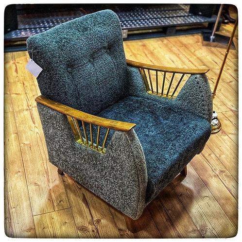 Original Vintage Sessel mit Messingdetails aus den 60igen