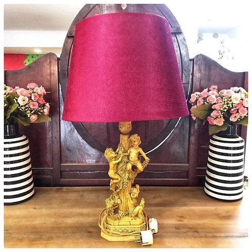 Tischlampe 2 Engel, sehr alt