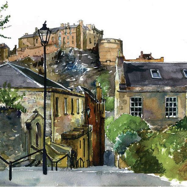 Edinburgh Castle from the Vennel.jpg