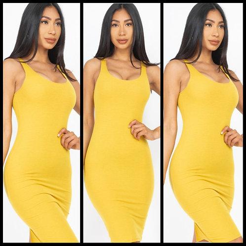 We Outside Bodycon Dress - Mustard