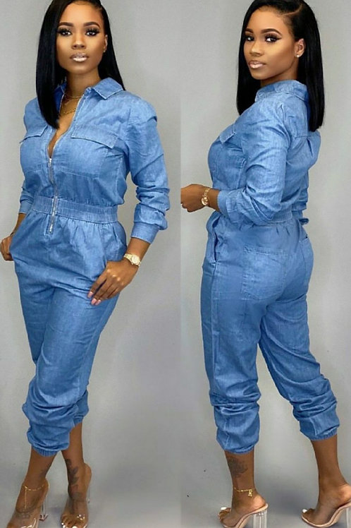 Blue Ivy Denim Jumpsuits