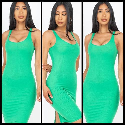We Outside Bodycon Dress - Kelly Green