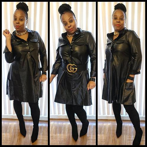 """Poison"" Leather Dress"