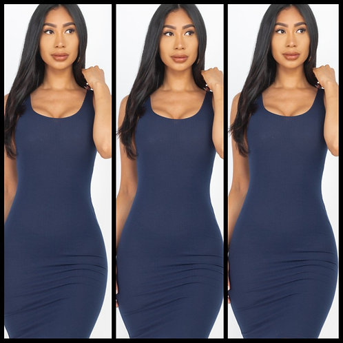 We Outside Bodycon Dress - Navy