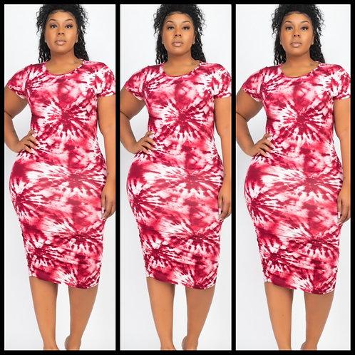 Cherry Blast Tye Dye Dress