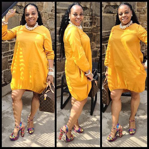 Mustard Bubble Dress
