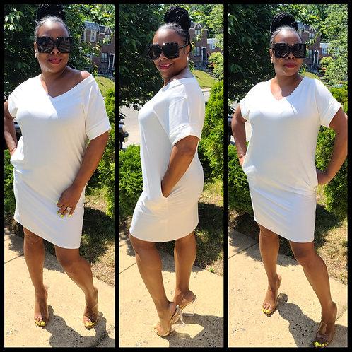 Snow white tshirt dress