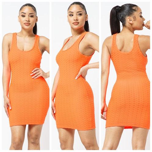 Honeycomb Tank Bodycon Dress
