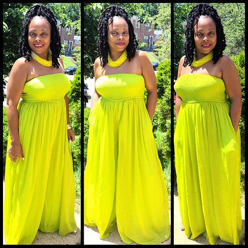Sheer Elegance Jumper - Lime