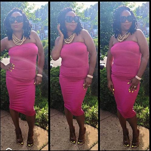 Sweet Pink Tube Dress