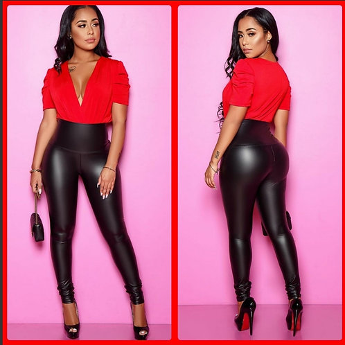 "Vixen ""Skin"" Faux Leather Leggings"