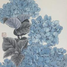 藍球 羅肇婷 2019  35 x 47 cm