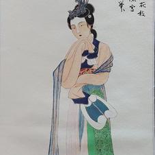 持團扇仕女圖 黃錦綸 2019 26 x 66 cm
