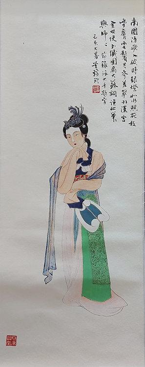 Lady with a Fan 持團扇仕女圖 #KL212