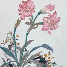 Green in Hong Kong I - Hippeastrum  Ms. PAU Mo Ching  2019 35 x 46 cm