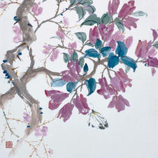 Green in Hong Kong I - Bougainvillea by the CU Libruary Ms. PAU Mo Ching  2019  34.5 x 45.5 cm