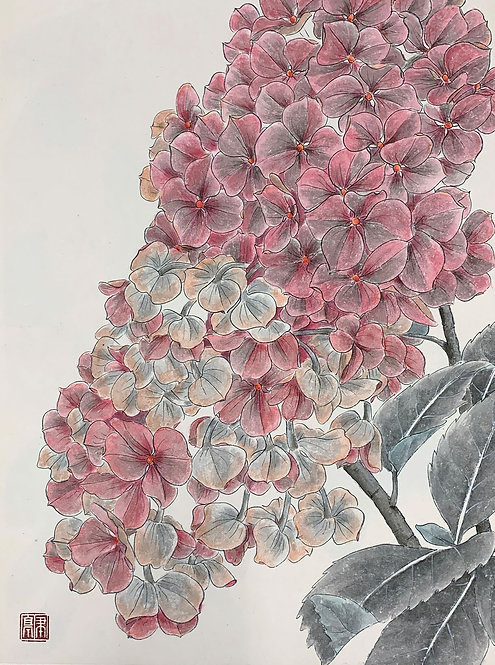 Pink Hydrangea 粉球 #EL03