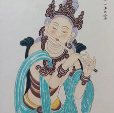 伎樂 黃錦綸 2016 35.5 x 66 cm