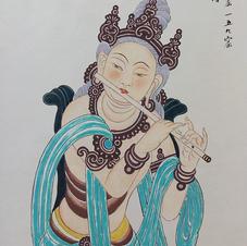 伎樂 Mr. WONG Kam Luen  2016  35.5 x 66 cm