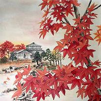 Autumn Maple 秋楓纍霜
