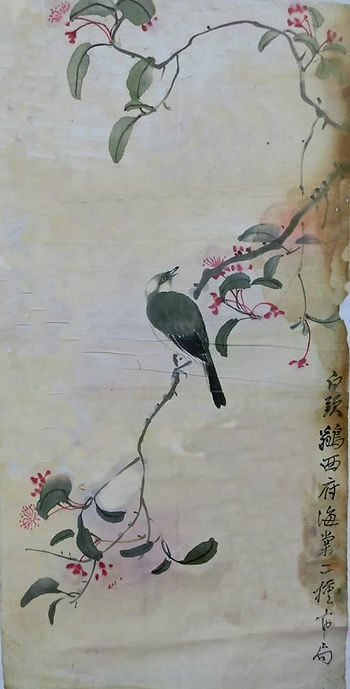 白頭鶲西府海棠 -李鳳公