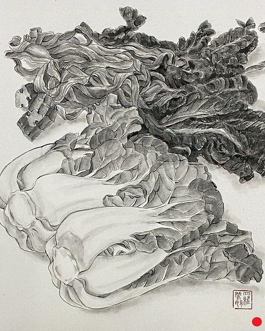 Precious Food - Dried & Fresh Pak Choi 珍食-金銀菜 #EL25