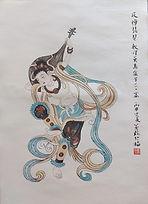 Dunhuang painting 1 反彈琵琶 #KL211