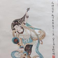 反彈琵琶 Mr. WONG Kam Luen  2019  34 x 47 cm