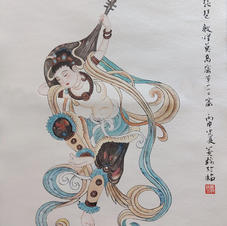 反彈琵琶 黃錦綸 2019 34 x 47 cm