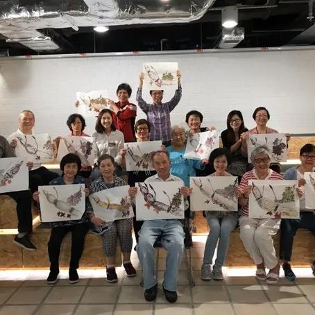 2017 Aug - Art workshop for the Elderlies