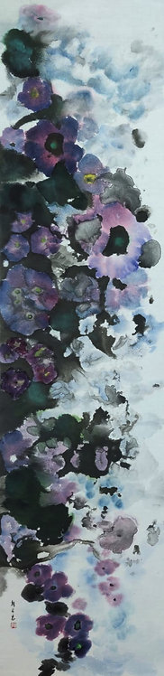 Flowers in the Mist 霧中花 (I) #AN174