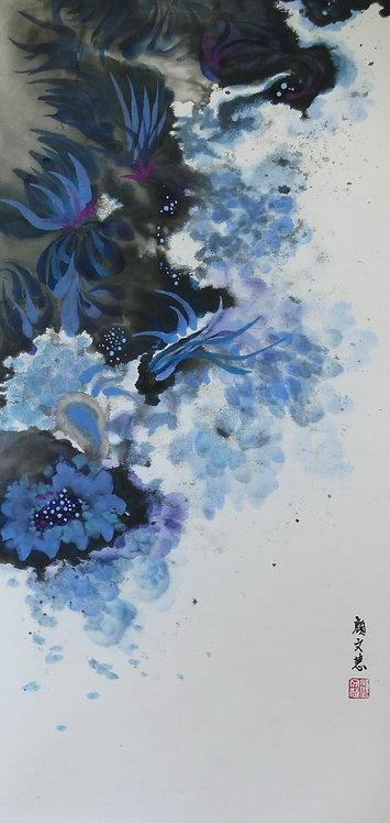 Flowers in the Mist (III) 霧中花 (III) #AN208
