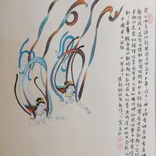 飛天 黃錦綸 2017 48 x 72.5 cm