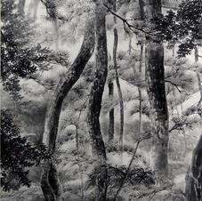 Pine Forest in Gyeongiu Ms. PAU Mo Ching  2013  74 x 140 cm