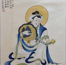 伎樂菩薩 Mr. WONG Kam Luen  2019  35.5 x 68.5 cm