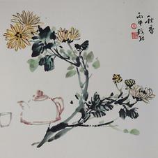 秋香 Mr. WONG Kam Luen  2016  40 x 51.5 cm