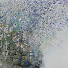 Peacock Ms. Alice NGAN  2020  68 x 39 cm