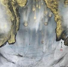 山海經 - 金獅洞 顏文慧 2020 37 x68 cm
