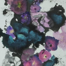 Misty Flowers II Ms. Alice NGAN  2020  34 x 137 cm