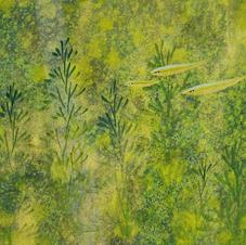 綠意盎然 (二)  黃家偉 2020 15 x 45 cm