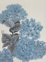 Blue Hydrangea 藍球 #EL02