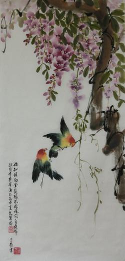 顏文慧 - 紫籐金鳥